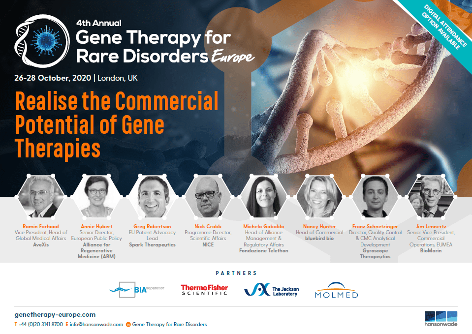 Gene Therapy for Rare Disorders Europe 2020 | Full Event Guide